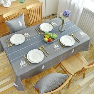 Khăn trải bàn vải cotton chống thấm nước hoạ tiết scandinavian, thanh lịch 1m4*1m8