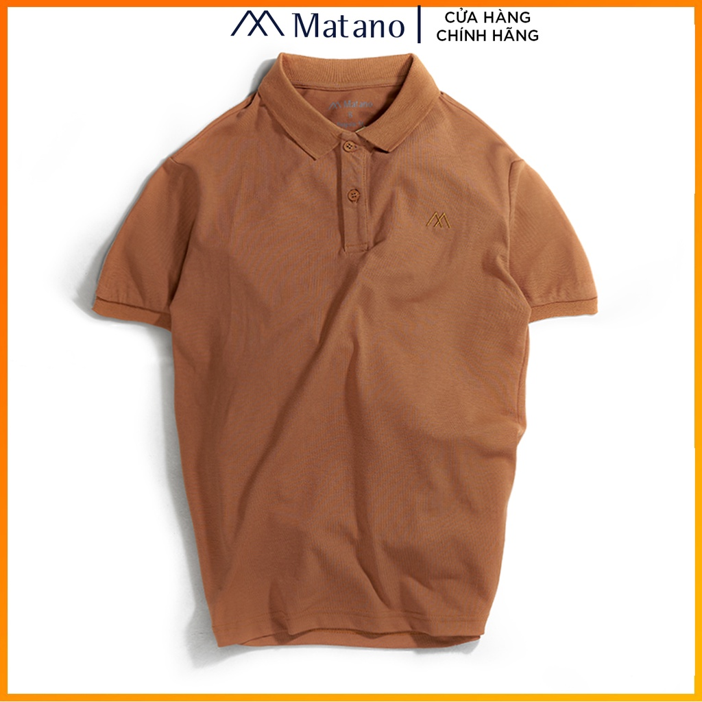 Áo polo nam bò trơn basic đẹp MATANO - Áo thun nam có cổ trụ bẻ, vải cá sấu cotton cao cấp chính hãng giá rẻ 023