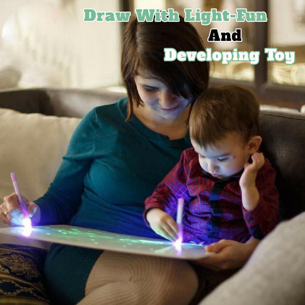 Draw With Light Fun And Developing Toy Drawing Board Educational Magic Draw