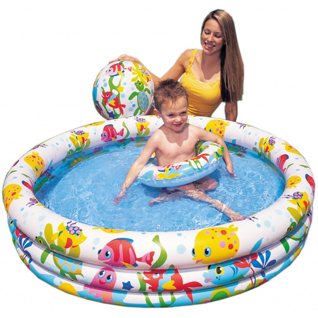 Bể phao bơi 3 chi tiết họa tiết cho bé sopdientu6688 xin chào