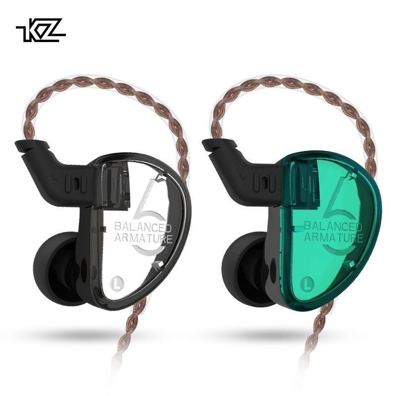 KZ AS06 3 Balanced Armature Detachable Detach 2PIN Cable HIFI Monitor Sports Earphone Custom Earphone