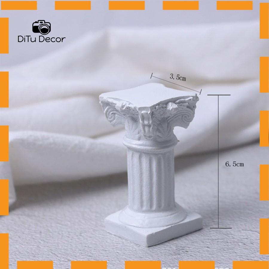 Cột mini hy lạp la mã, tượng tượng cột  nhỏ chụp ảnh, đồ decor chụp hình - Ditu Decor