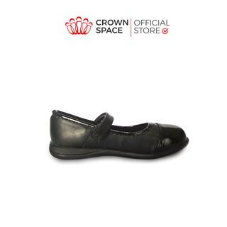 Giày Búp Bê Đen Đi Học Bé Gái Crown Space UK School Shoes CRUK3030 Size 28-36/4-14 Tuổi