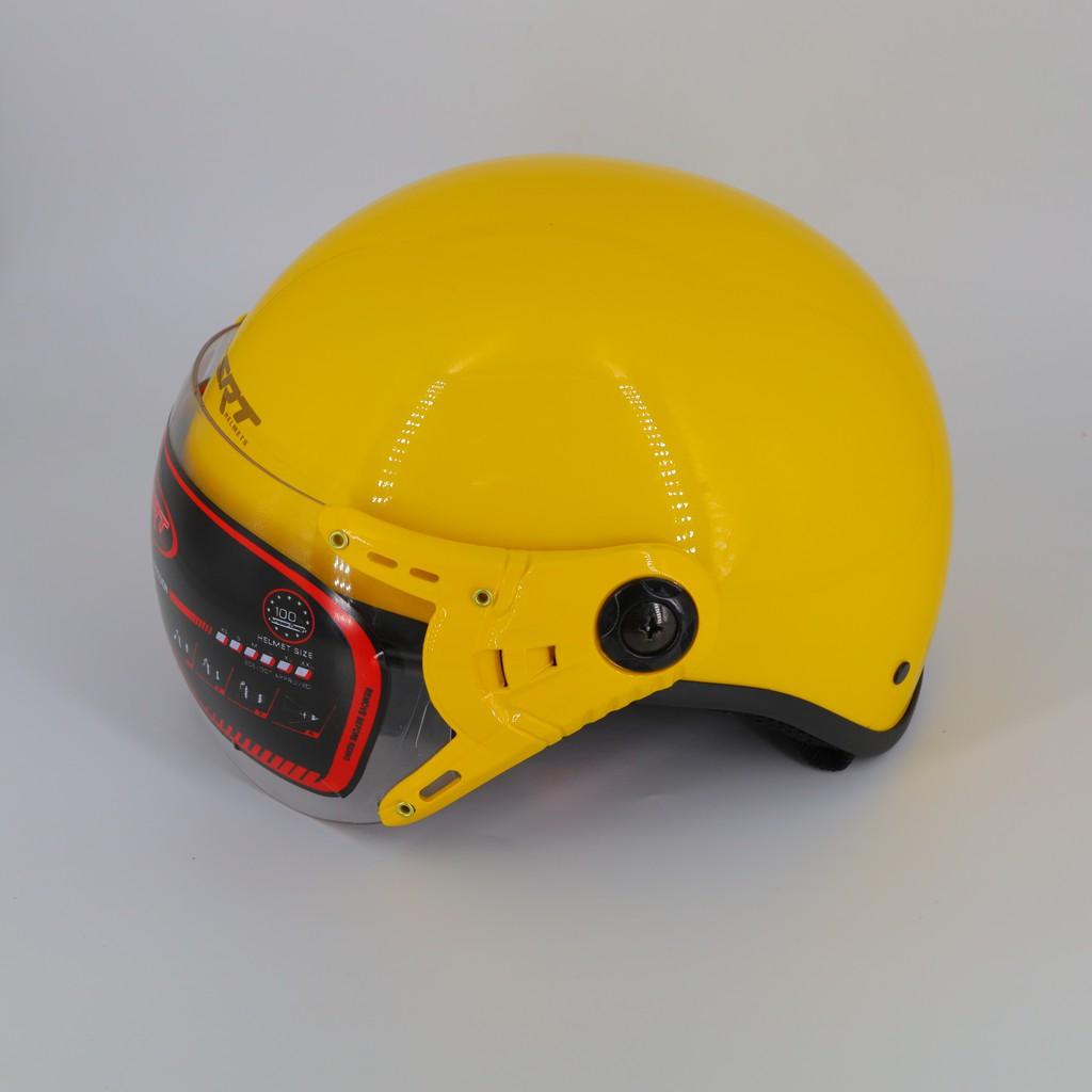 Mũ bảo hiểm nữa đầu 1/2 - kính càng SRT A33K (Vòng bóng) mũ bảo hiểm nửa đầu có kính