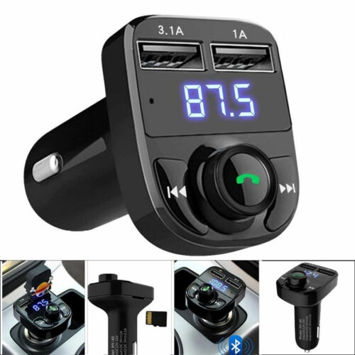 Bluetooth Car Kit Wireless FM Transmitter Dual USB Charger Audio MP3 Player GD
