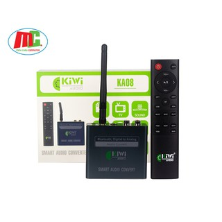 Bộ Chuyển Đổi Âm Thanh Digital Sang Analog Kiwi KA08 Bluetooth Giải Mã 24 Bit - Hàng Chính Hãng