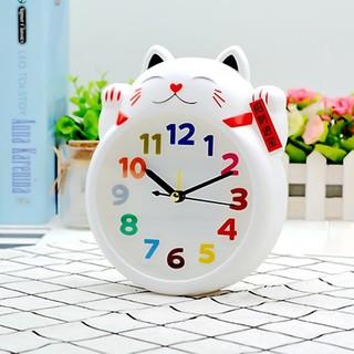 [Giao 2 Giờ] Đồng hồ để bàn mèo thần tài - LMS