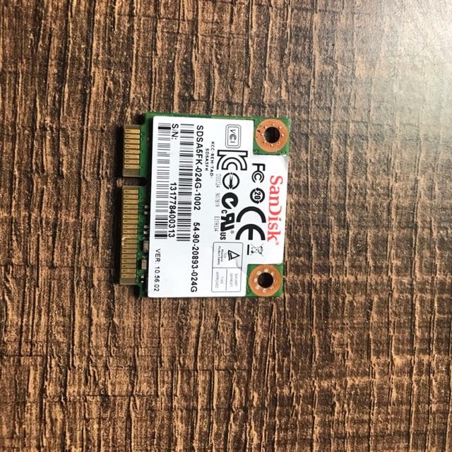 Ổ cứng SSD chuẩn msata hafl size dung lượng 24gb 32gb 16gb