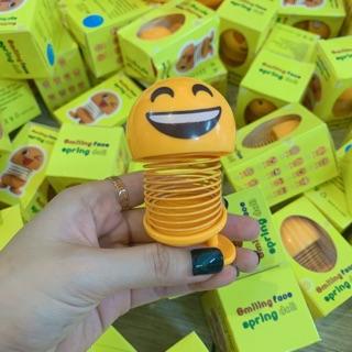 (Sỉ sl lớn- Hàng mới về) Combo 6 Con emoji mặt cười lò xo vui nhộn gắn xe hoặc mũ BH