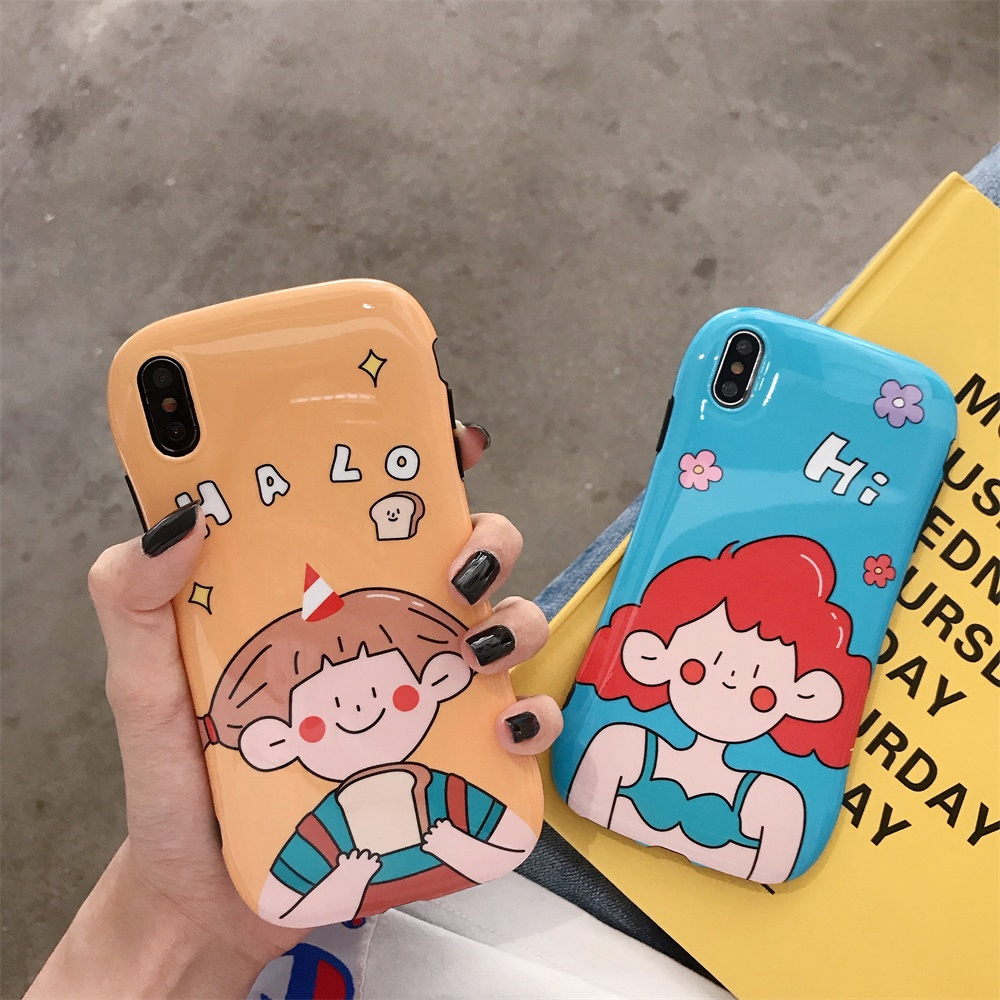 silicone iphone 8 case for iphone 7 bright surface cute fashion simple