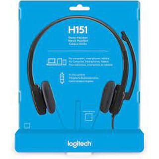 Tai nghe Logitech âm thanh nổi STEREO HEADSET H150 / H151 01 Jắc 3.5mm ( tích hợp cả mic + tai nghe )