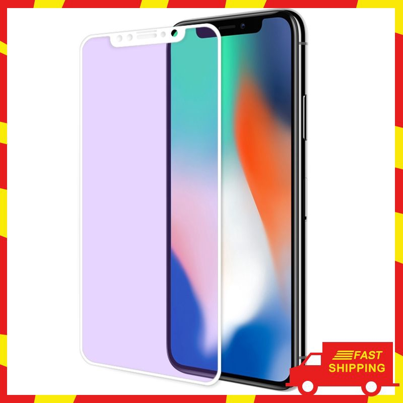 — iPhone X white edge tempered glass mobile phone HD screen protector film —