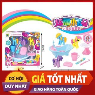 HOT NEW ĐỒ CHƠI TRẺ EM – Bộ Đồ Chơi Bồn Tắm Ngựa Pony /M92593/ Thế Giới Đồ Chơi
