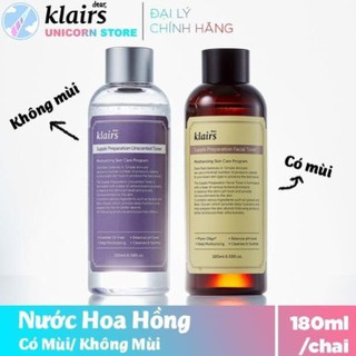 [TOP BÁN CHẠY] [CHÍNH HÃNG] Nước Hoa Hồng Klairs Supple Preparation Toner 180ml
