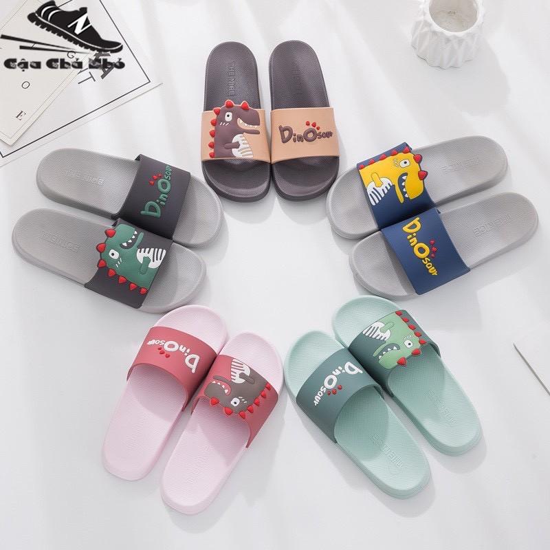 ( Hot Trend) Dép thời trang KHỦNG LONG 3D dép cao su quai ngang mềm dẻo êm chân