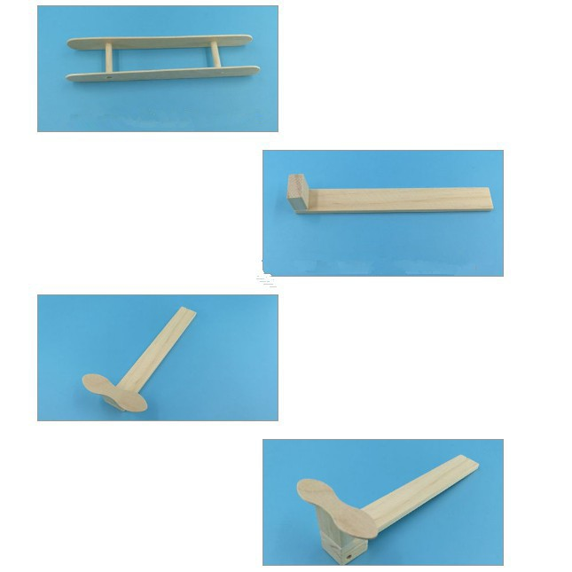 Wood Plane Toy Assembled Puzzles Science Learning Toys