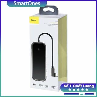 Bộ USB C Hub Baseus Mirror Series mở rộng USB 3.0,HDMI 4K@30Hz,đọc thẻ nhớ SD , TF cho Macbook,Laptop, Smartphone…