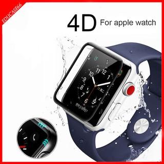 Kính Cường Lực Apple Watch 38mm 40mm 42mm 44m Full keo bảo vệ màn hình Cong 9H, Tặng Kèm giấy Lau kính educase
