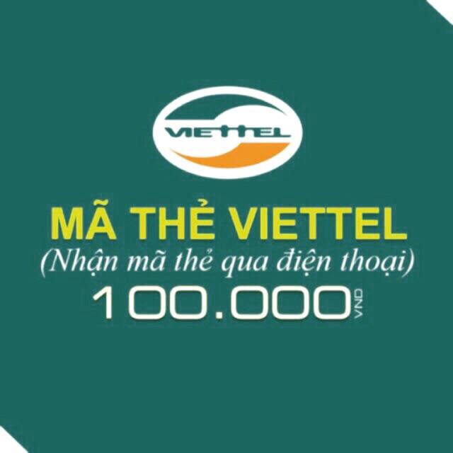 Mã thẻ/Nạp tiền Viettel 100k - 2701993 , 495388548 , 322_495388548 , 100000 , Ma-the-Nap-tien-Viettel-100k-322_495388548 , shopee.vn , Mã thẻ/Nạp tiền Viettel 100k