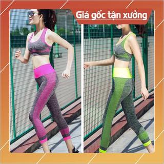 [BÁN GIÁ GỐC] Bộ đồ tập gym phong cách TT01, quần áo tập yoga, aerobic, chất thun siêu co giãn