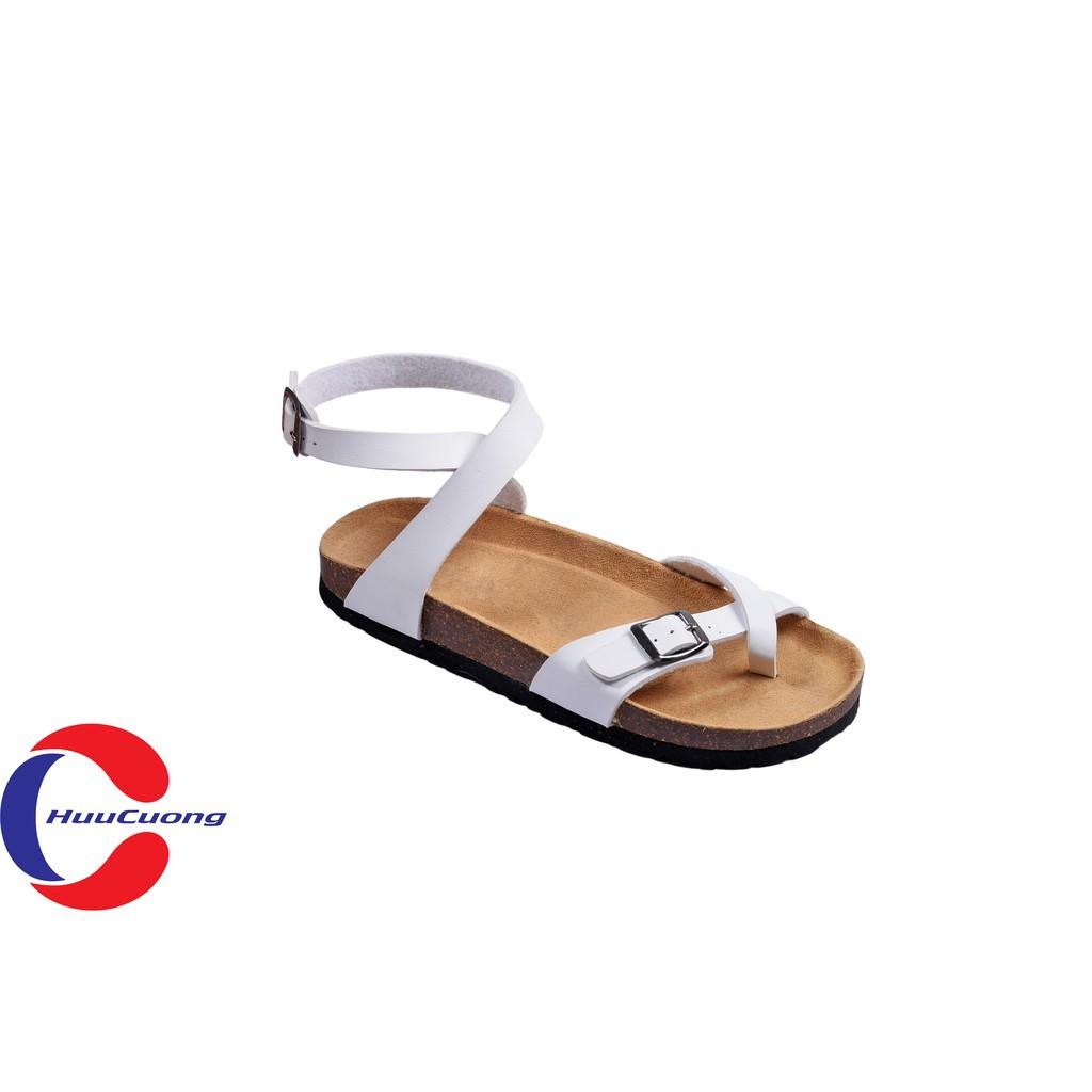 Hình ảnh Sandal unisex thời trang HuuCuong - xỏ ngón cổ cao đế trấu-0