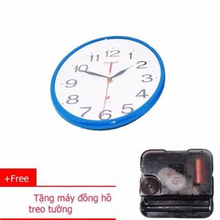 Đồng Hồ Treo Tường (P1) PROSPER  25cm (xanh dương)+ Tặng máy đồng hồ treo tường