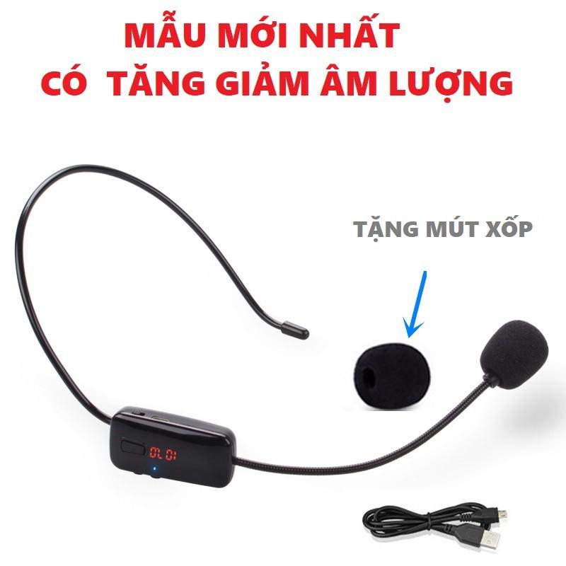 Micro không dây FM trợ giảng quàng đầu cho giáo viên