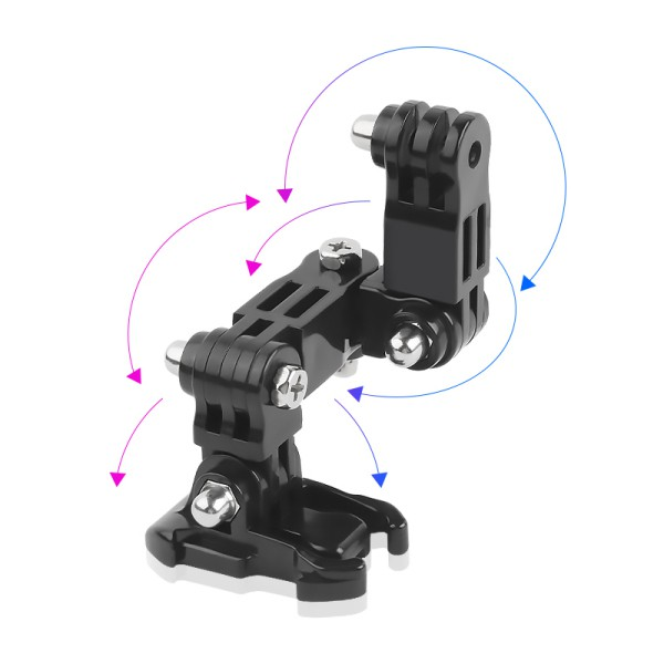 For GoPro hero6/5/4 Motorcycle Helmet Chin Bracket Turntable Button Mount Action