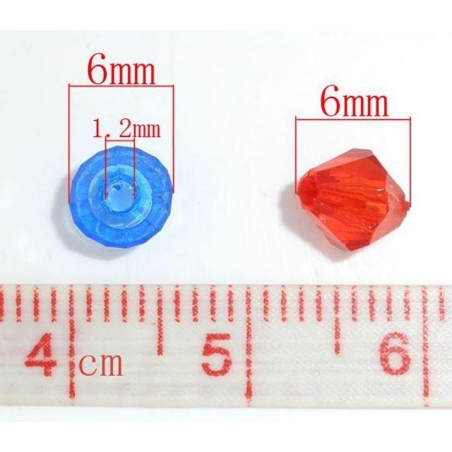 Combo 9g khoảng 100 hạt nhựa trong suốt nhiều màu sắc lấp lánh làm handmade