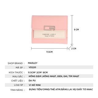 Hình ảnh Ví nữ thời trang ngắn cầm tay mini đẹp MADLEY cao cấp nhiều ngăn nhỏ gọn bỏ túi VD220-1