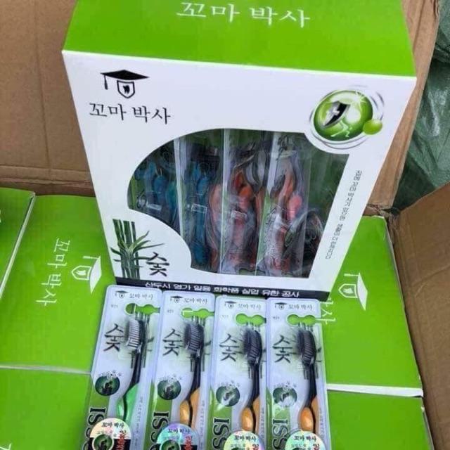 Bàn chải Bossi-Hàn Quốc than tre kháng khuẩn, lông mềm, mỏng, chải sạch từng kẽ răng Lẻ:95k/10 chiéc