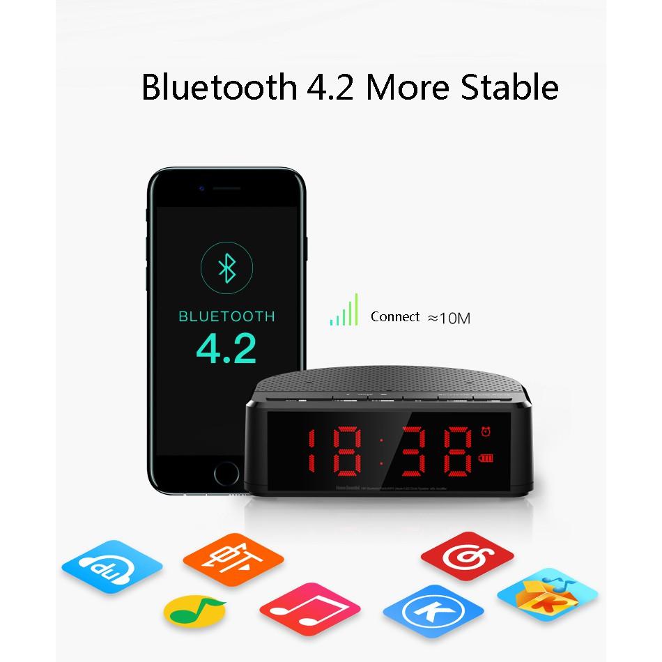 Máy nghe nhạc MP3 không dây kết nối Bluethooth, có FM, đồng hồ báo thức và màn hình hiển thị LCD -DC - 2670101 , 1231370032 , 322_1231370032 , 280000 , May-nghe-nhac-MP3-khong-day-ket-noi-Bluethooth-co-FM-dong-ho-bao-thuc-va-man-hinh-hien-thi-LCD-DC-322_1231370032 , shopee.vn , Máy nghe nhạc MP3 không dây kết nối Bluethooth, có FM, đồng hồ báo thức và