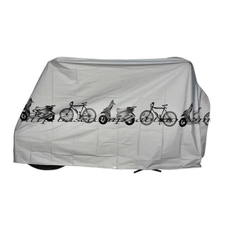 Bạt phủ trùm yên xe và thân xe máy chống tia UV - chống nắng nóng - màu BẠC phản quang
