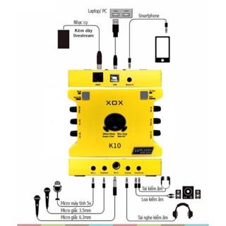 Suond Card LIVESTREAM XOX K10 BẢN 2020