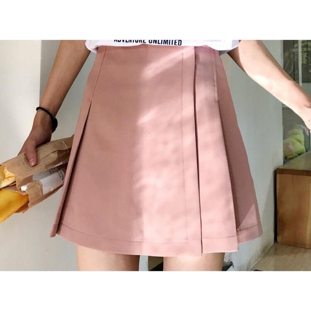 Chân váy hồng đỗ