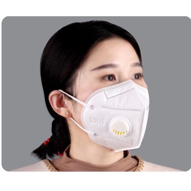 Khẩu Trang N95 kháng khuẩn, có van thở, chống bụi mịn PM2.5, kẹp mũi kim loại Imask