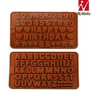 Khuôn silicon chữ cái – số