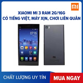 [Mã ELMS4 giảm 7% đơn 500K] điện thoại Xiaomi Mi 3 ram 2G 16G mới Có TIẾNG VIỆT, Chính Hãng thumbnail