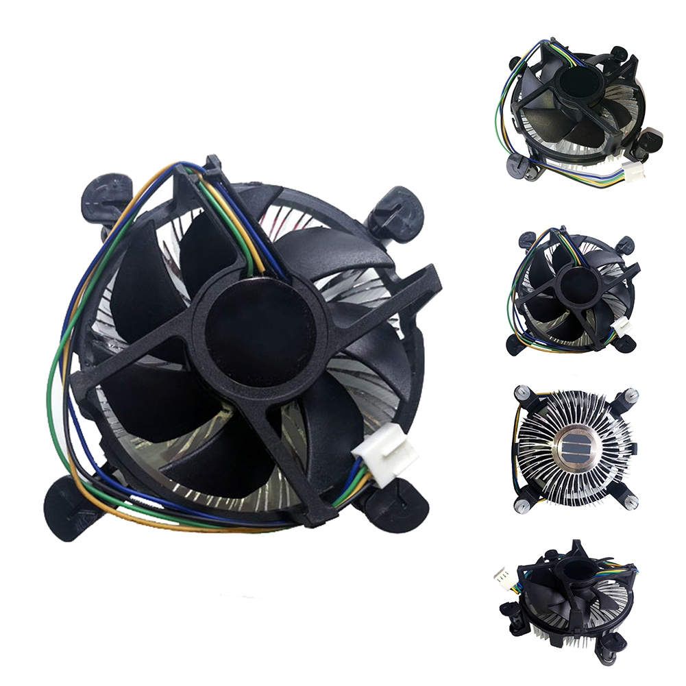 Office CPU Fan Useful Universal Aluminum Quiet Home Computer Components Accessories For Intel Giá chỉ 88.000₫