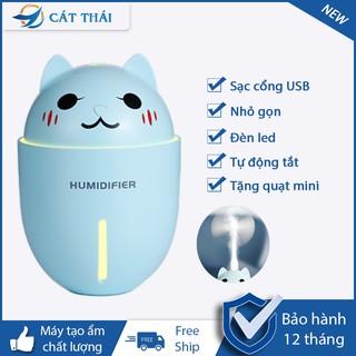 Máy Tạo Ẩm Phun Sương khuếch tán MINI HUMIDIFIER Cát Thái kết nối USB hoạt động bù nước tạo ẩm mô hình nhỏ không gây ồn