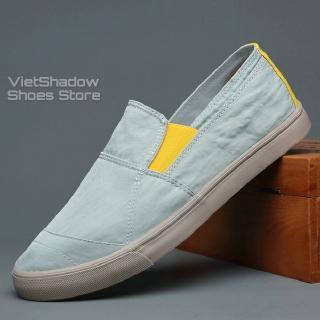 Slip on nam - Giày lười vải nam cao cấp BAODA - Vải polyester chống thấm 3 màu đen, khaki, xanh nhạt - Mã 20037 thumbnail