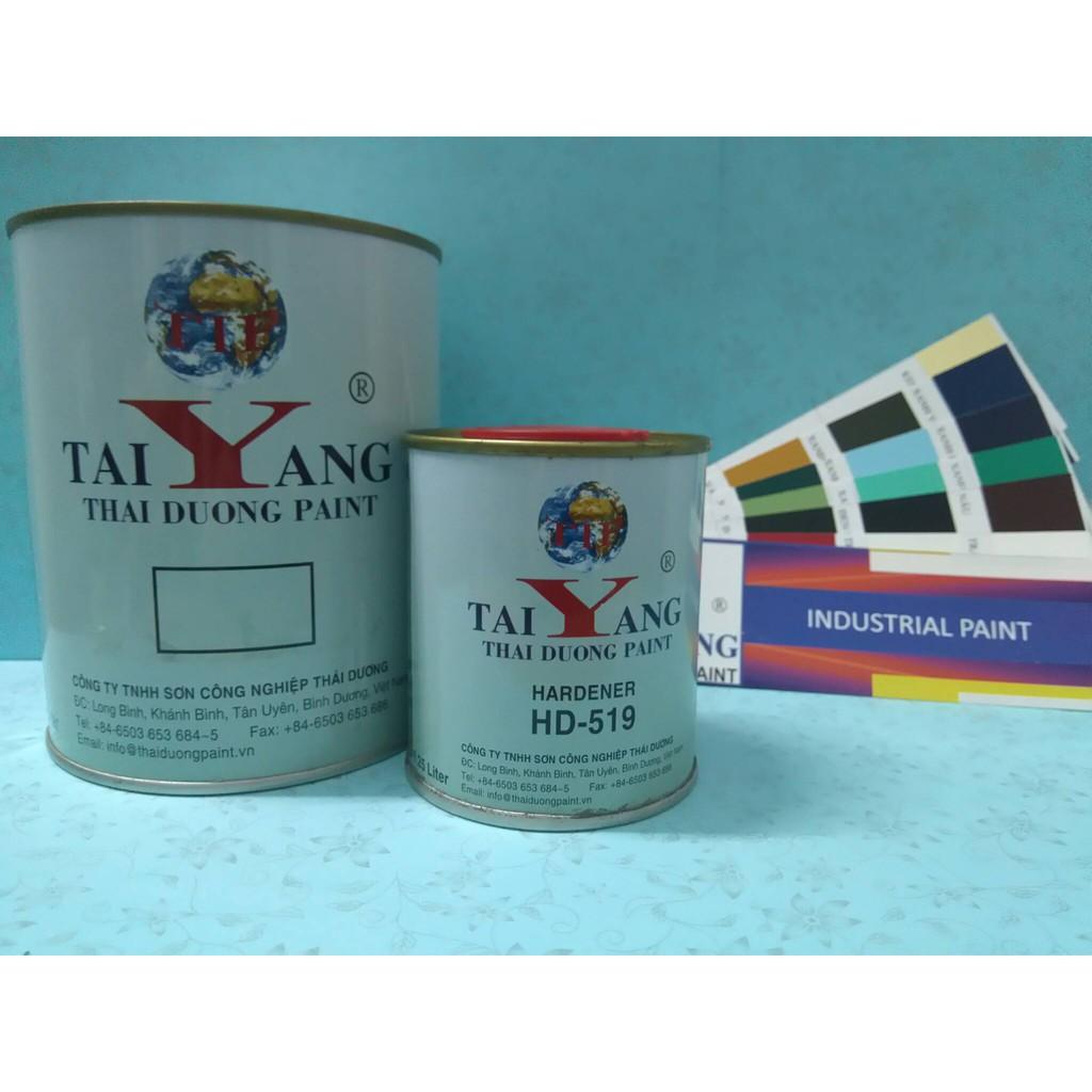 2 bộ Sơn sắt mạ kẽm, inox, kim loại cao cấp 2K Taiyang, sơn cửa, cổng, hàng rào ( Bộ 4.5kg)