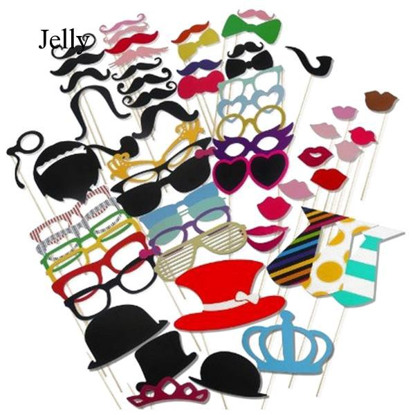 60 PCS DIY Photography Photo Booth Props for Christmas Wedding Party Selfie J891