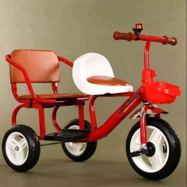 Xe đạp 3 bánh , Xe đạp xích lô yên da cho bé từ 2-6 tuổi