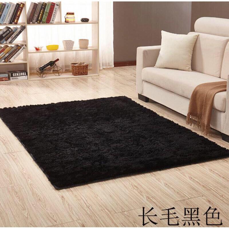 Thảm lông xù HL- 6 Đen 1m6x2m