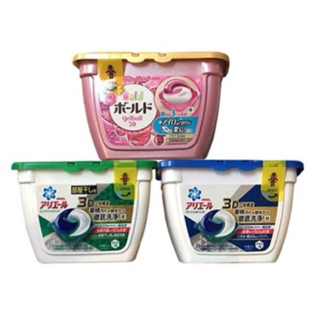 Combo 6 hộp viên giặt xả gelball hương hoa 3D Nhật Bản