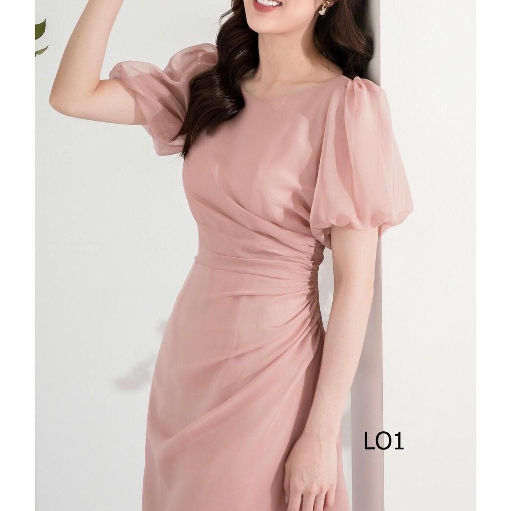 Mặc gì đẹp: Sang chảnh với Đầm dự tiệc xếp eo cổ tròn dịu dàng - Yena