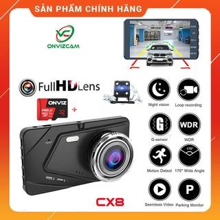 [ Tặng thẻ 0GB-32GB ] Camera hành trình ô tô trước sau Full HD 1080P, ống kính kép siêu bền thumbnail