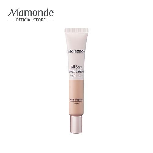 [Mã COSHPBD -8% ĐH 400K]Kem nền che khuyết điểm lâu trôi Mamonde All Stay Foundation SPF 25 PA ++ 20ml