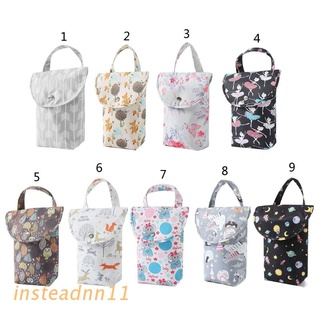 INSTEAD Baby Diaper Bags Reusable Waterproof Diaper Organizer Portable Mummy Bag